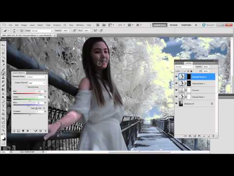 Correcting human tones in Infra red photography