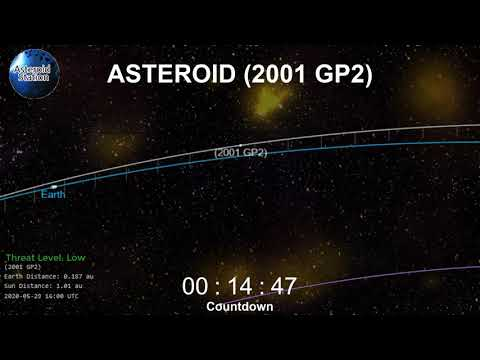 Watch October's First Close Approach Countdown Asteroid (2001 GP2) October 1, 2020