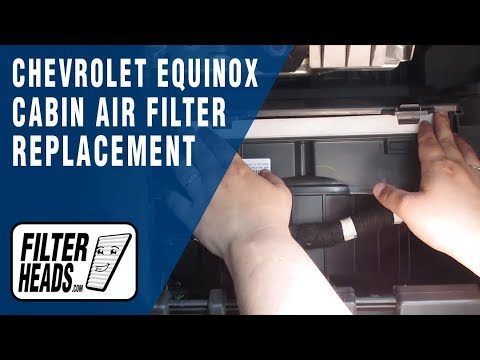How To Replace Cabin Air Filter 2013 Chevrolet Equinox Youtube