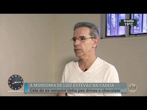 Luiz Estevão é apontado como chefe da Penitenciária da Papuda | SBT Brasil (18/06/18)