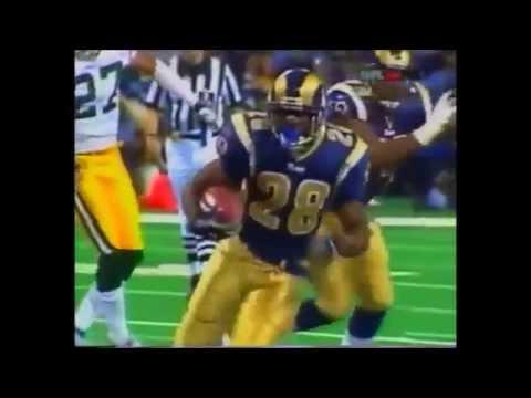 Marshall Faulk vs Packers 2002 highlights