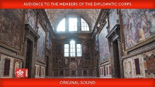 Pope Francis Audience to the members of the Diplomatic Corps 2018-01-08