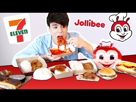 i tried FILIPINO 7 ELEVEN and fast foods in MANILA PHILIPPIN