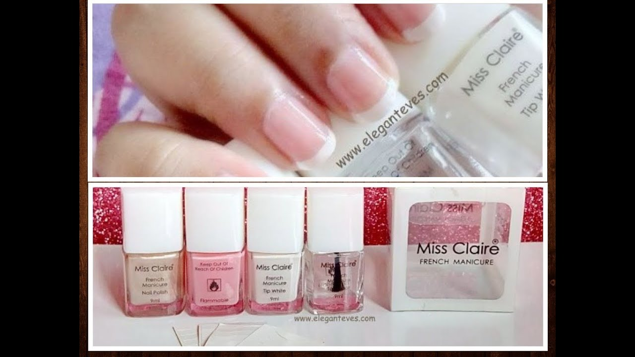 Perfect French Manicure Nails At Home Easy With Miss Claire Kit