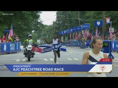 With a $50,000 Bonus on the Line, Course Records Fall at 50th Peachtree Road Race