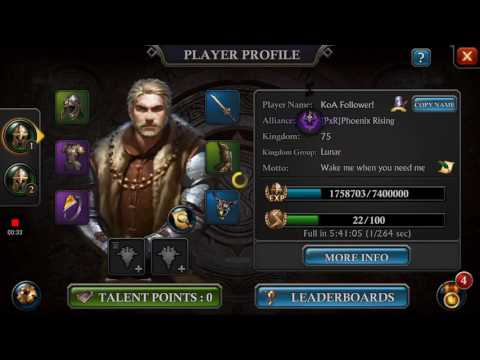 King Of Avalon Requirements For Level 24 Stables