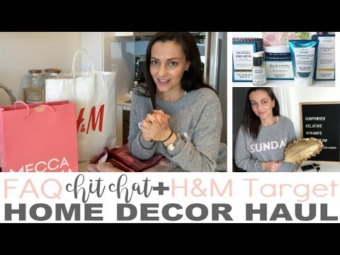 HOME DECOR HAUL - H&M TARGET KMART MECCA MAXIMA || THE SUNDAY STYLIST