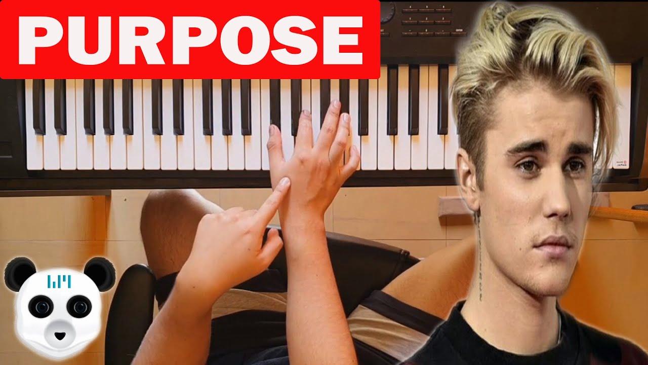 """Download Como tocar """" Purpose """" en Piano Fácil / Justin Bieber / Tutorial 👨🏫🎹"""
