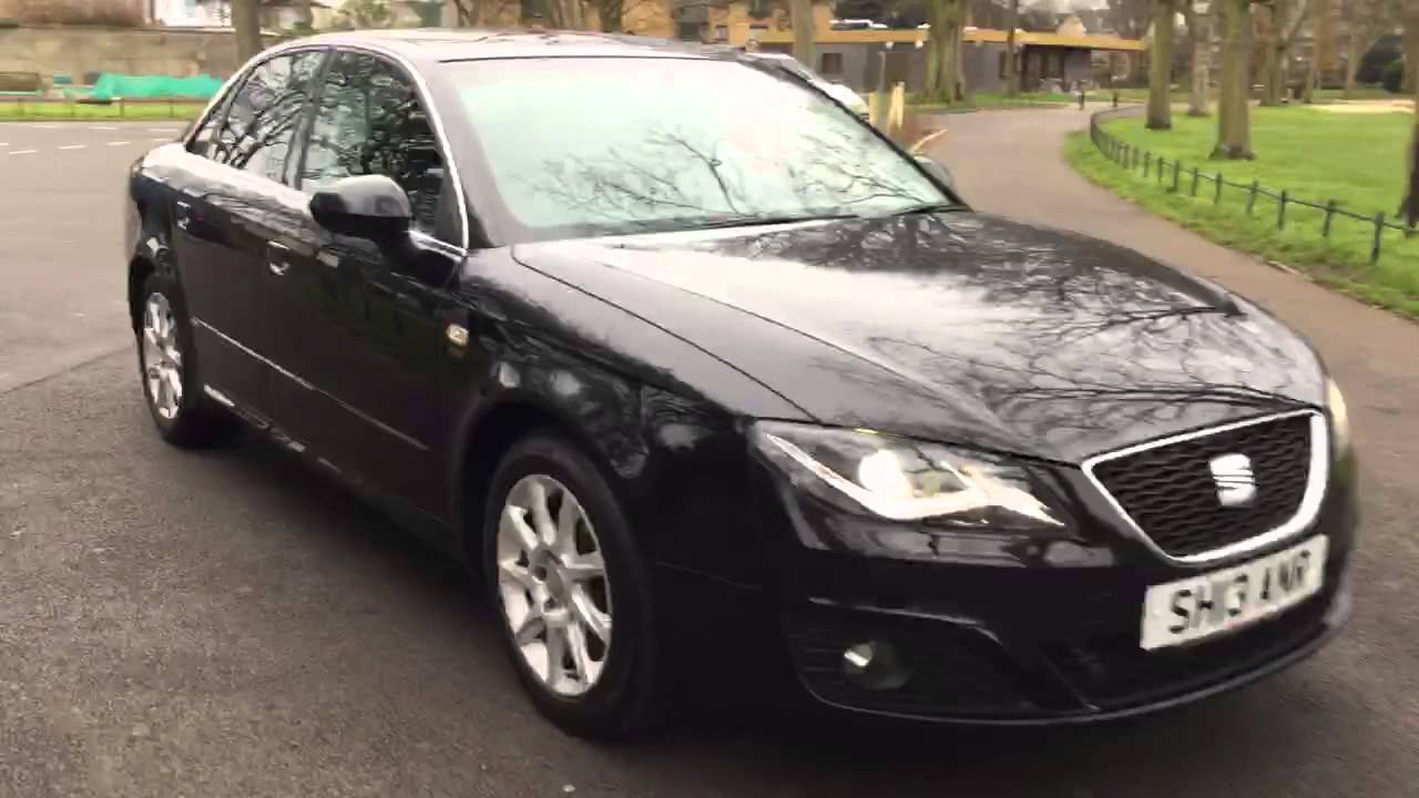 Black Seat Exeo 2 0 TDI Turbo Diesel Sport Tech Ecomotive McCarthy Cars  London   6 Speed