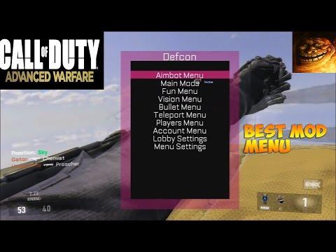 CALL OF DUTY ADVANCE WARFARE DEFCON BEST MOD MENU ONLINE + DOWNLOAD LINK!! (COMMENTARY)