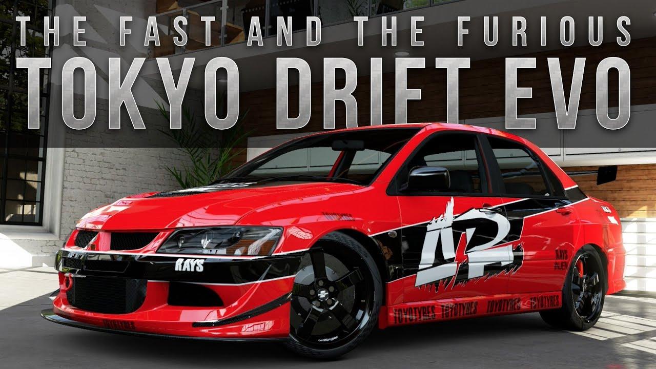 Forza Fast Furious Car Build Tokyo Drift Evo Youtube