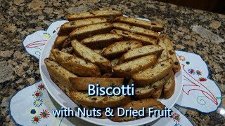 Italian Grandma Makes Biscotti with Nuts & Dried Fruit