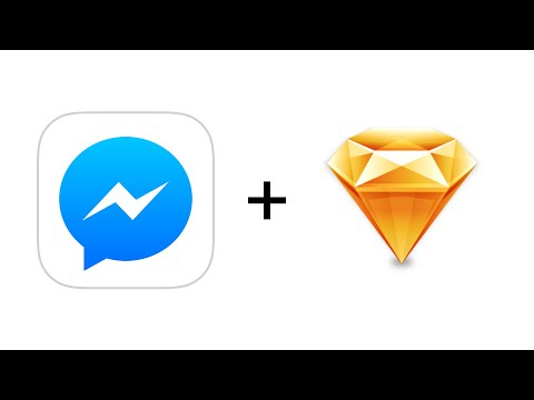 FB Messenger Icon Recreated Using Sketch