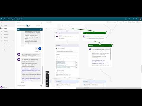 Microsoft Health Bot COVID-19 Virtual Assessment + Power Platform