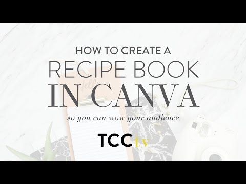 How To Create Your Recipe Book In Canva