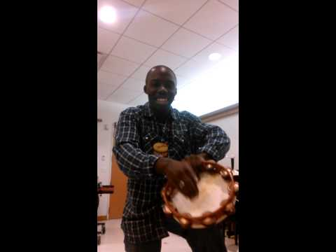 Explanation of tambourine techniques for the Nutcracker excerpts for students of Brian Choppy Massimo in Zion, IL
