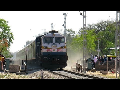 DIESEL MONSTER creates Dust Storm at Level Crossing | Indian Railway