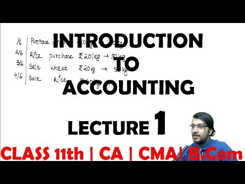 Introduction to Accounting | Lecture 1 | Class 11th | CA CMA House Of Commerce