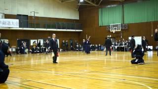 第51回都下大学剣道大会、加藤VS東外大渡邊