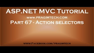 Part 67   Action selectors in mvc