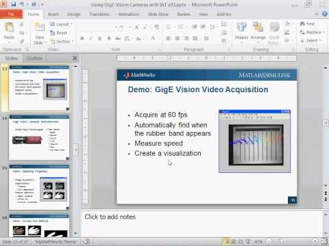 Image Acquisition Using GigE Vision Cameras with MATLAB
