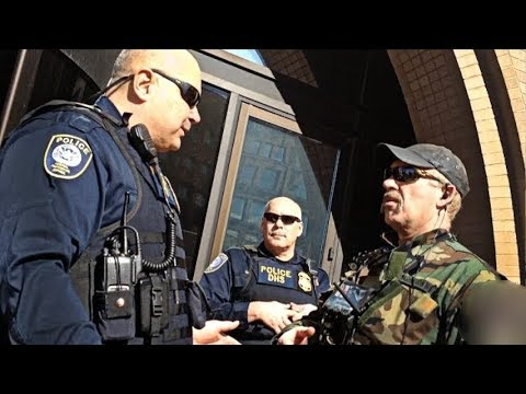 COPS OWNED DEPARTMENT OF HOMELAND SECURITY FIRST AMENDMENT AUDIT I DONT ANSWER QUESTION