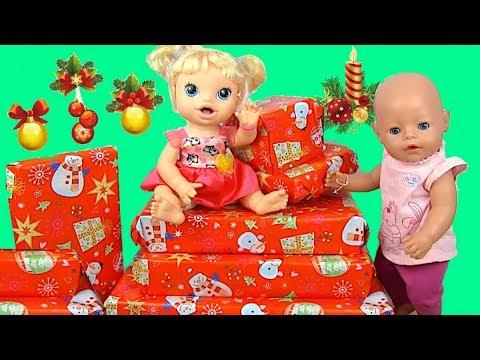 Куклы Пупсики Открывают Новогодние Подарки Мультик с Куклами Для девочек