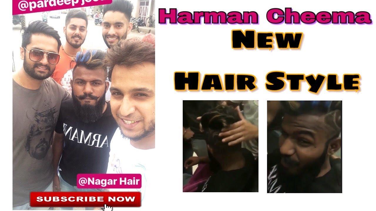 Harman Cheema In Nagar Hair Salon New Look Punjabi Song - The look hair salon