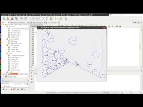 Java 2D physics from scratch - Rigid Body Test #2: linear impulse resolution (no rotation)