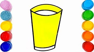How to draw a glass step by step \very easy || TOO COLOUR||