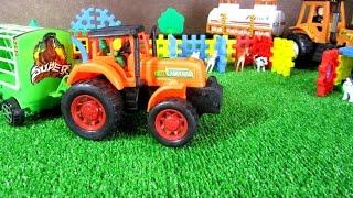 Мультик про трактор. Домашние животные для детей. Трактор на ферме