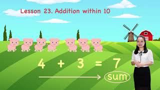 Math For Kids - Lesson 23. Addition within 10   Kindergarten