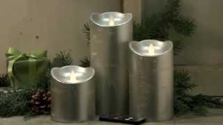 50574 Set of 3 Silver Dazzler Candles Thumbnail