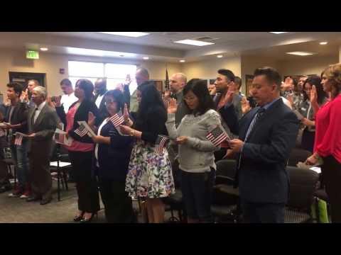 US Citizenship Oath Taking 2017