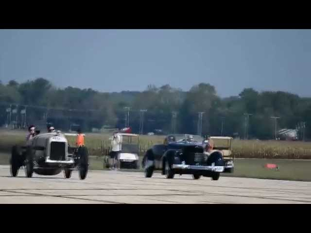 1921 Duesenberg Race Car vs Cord 812 Drag Race