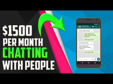 🔥Earn $1500 Per Month Chatting With People! (Make Money Online)