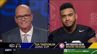 Alabama Crimson Tide QB interview, Tua Tagolovia knee feels fine!!