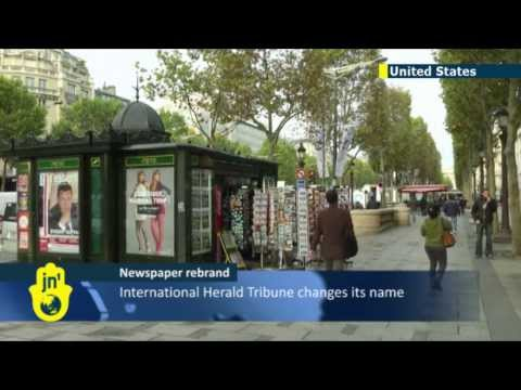 International Herald Tribune Rebrand: US expat paper now known as International New York Times