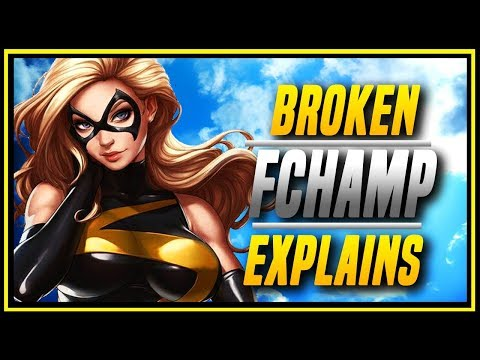 MVCI ➤ This Character Is Broken! FChamp's Captain Marvel Compilation