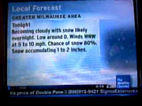 Milwaukee Intellistar - 1/13/09 Wind Chill Advisory