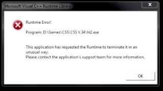 HL2.exe Runtime error!