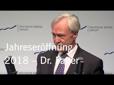 Gruppe Deutsche Börse - Jahreseröffnung 2018 - Rede Dr. Joachim Faber