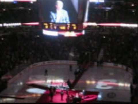 Chicago Blackhawks vs. Boston Bruins - Magnuson & Pilote Retirement Ceremony 11/12/08 (Part 1)