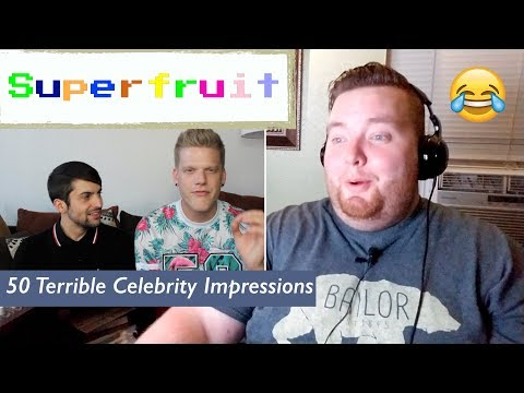 Superfruit | 50 Terrible Celebrity Impressions | Jerod M Reaction