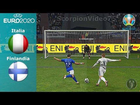 Italia Vs Finlandia • UEFA Euro 2020 • Calci di Rigore • PES 2019 Patch [Giù]