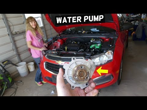 CHEVROLET CRUZE WATER PUMP REPLACEMENT. CHEVY SONIC WATER PUMP REPLACEMENT