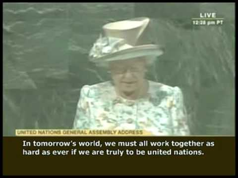 THE QUEEN Has No Authority? WRONG ANSWER Part-2 The Queen's Speech at U.N. July 6, 2010