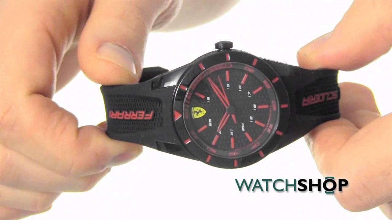 Scuderia Ferrari Men S Redrev Watch 0840004 Youtube