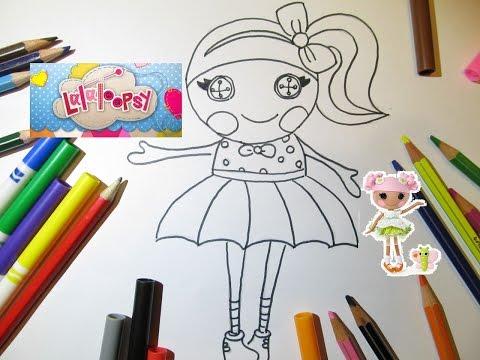Рисуем Куклу Лалалупси Draw a doll  Lalaloopsy Lalaloopsy doll Очень просто рисовать Обучающее видео