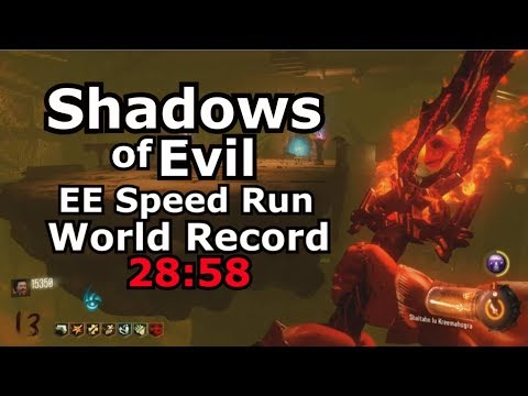 Shadows Of Evil Easter Egg SpeedRun World Record 28:58 Black Ops 3 PS4